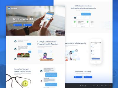 MIA Landing Page landing page illustration health layout app website ui