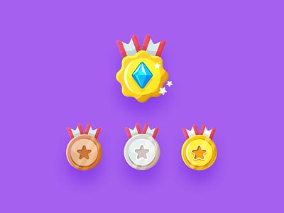 Level Badges logo badge icons icon vector design illustration