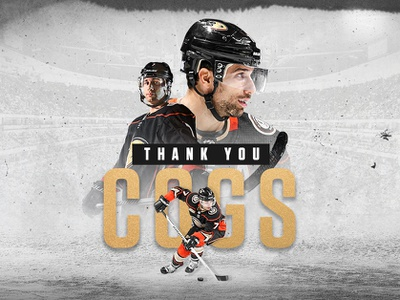 Anaheim Ducks | Thank You Cogs design typography social media color correction photo retouch