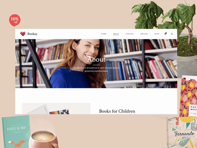Book Shop Demo 📚 website web ux ui animation typography vector illustraion liborarian liborary booksale special offers purchase onlineshop bookshop books colors colorfull