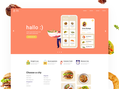 Food ordering payment order purchase cart onlineshop shop tasty fooddelivery delivery online store online order food ordering website design
