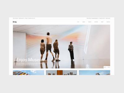 Brdg Museo blog tickets events museum architecture ux animation ui web design website