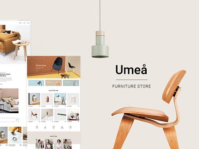 Umeå - Furniture Store store online shop online store shop interiors interface furniture architecture typography ui web design website