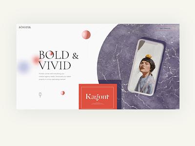 Fönster - Creative Portfolio Theme personal portfolio stellar stars gradient modern branding illustration typography animation web website design