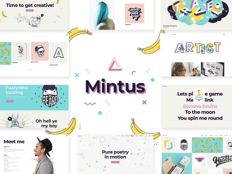 Mintus vector website animation web typography illustration design ui