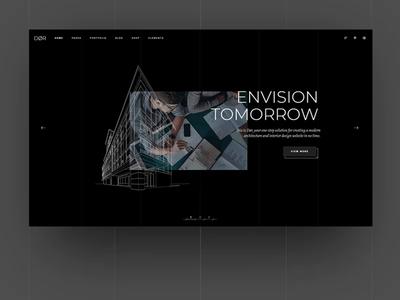 Dor Main Home lines type minimal exterior dark bold building architecture ux website app logo black architect vector animation typography ui web design