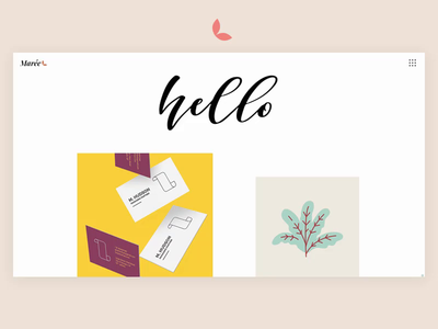 Marée - Illustration and Design Portfolio Theme designer illustrator pastel layoutdesign portfolio typography vector illustration animation ux website web ui design