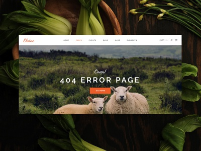 Drop dead serious Friday errorpage 404page earthtones animals pure herbal vegan plants organic website web design