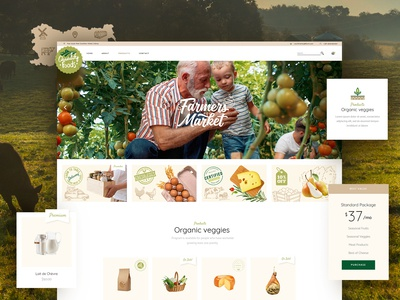 Farmers market- order online- food delivery 🌱