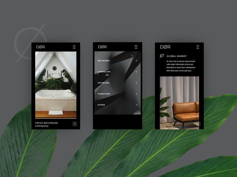 Dør -  Modern Architecture and Interior Design list meny buildings interior furniture elegant stylish bold dark premium creative architecture logo icon branding website design ui responsive mobile