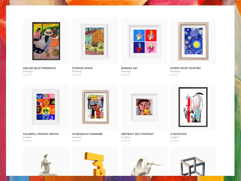 Bridge Art Shop artwork colorfull elementor shop online modern sculpture handcraft painting art illustration typography ui web website design