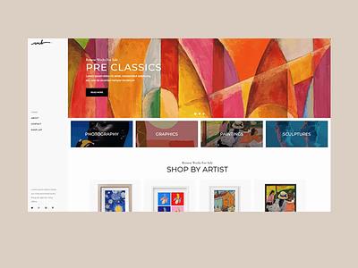 Bridge Art Shop Home elementor handcraft paintings graphic sculpture art contemporary modern colorfull onlineshop shop homepage animation ui web website design