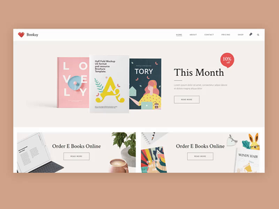 Book Shop Demo 📚 colorfull colors purchase cart special offers sale onlineshop booksale liborarian liborary bookshop books illustration vector typography animation ux web ui website