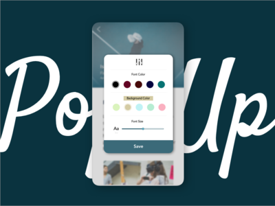Daily UI Challenge Day 016 Pop Up