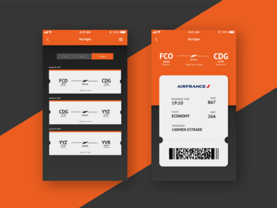 Daily UI Challenge Day 024 Boarding Pass