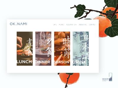 Okinami Web Design - Menu Screen