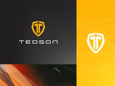 Tedson Branding car shield car logo symbol vector design graphic design logo visual identity brand identity logotype branding