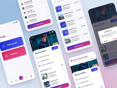 Solplanet - Manage installers app figma installer solar manage dashboard clean mobile mobile ui mobile app design ios android application user experience user interface ux ui design ui design