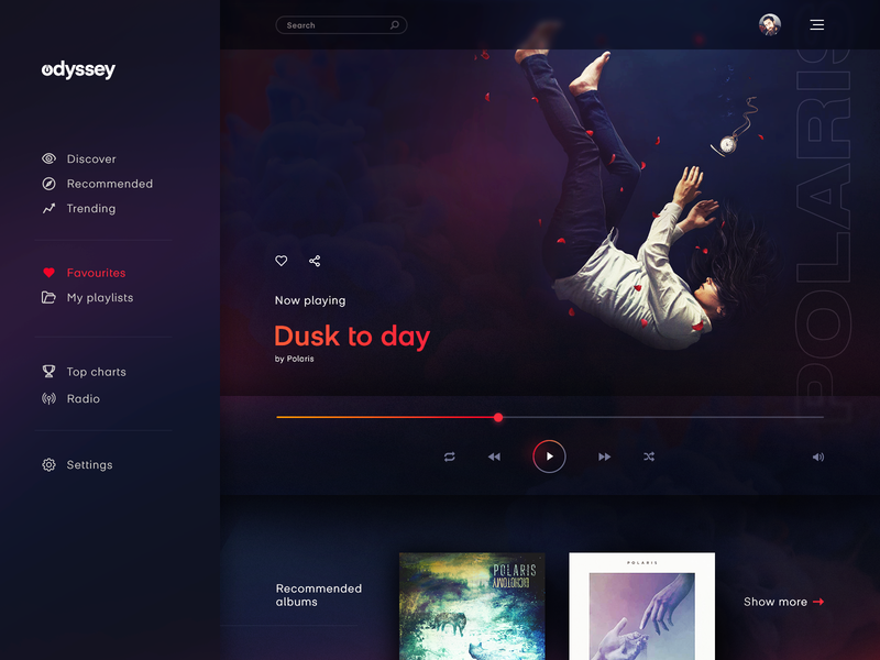 Daily UI 009 - Music Player daily ui 009 music player ui music player music ui design daily ui 009