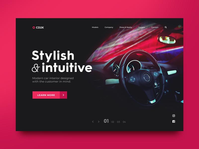 Car Company UI Concept design adobe photoshop adobe ux ui ui design daily ui
