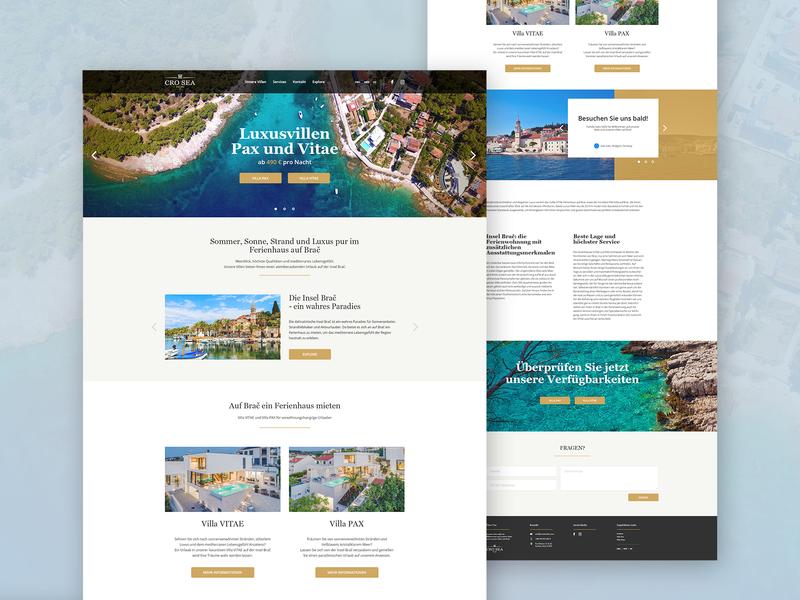 Luxurious villas homepage website design web design website ui design ui adobe photoshop adobe design