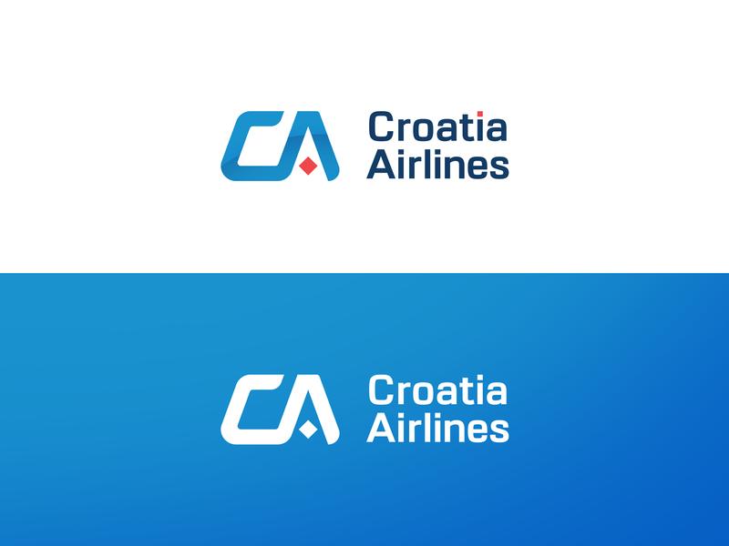 Croatia Airlines redesign concept brand identity redesign rebranding rebrand adobe design typography branding brand vector logo