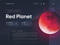 Cosmic travel - #DesignSlices UI Challenge 02