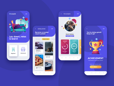 Couch Potato - #DesignSlices UI Challenge 05 challenge app vector web typography illustration adobe photoshop adobe ux ui design ui design