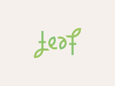 Leaf Ambigram Logo animation after effects logotype ambigram adobe design typography vector logo