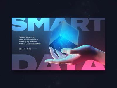 Smart Data UI Concept landing page web website ux after effects design adobe adobe photoshop ui ui design web design animation