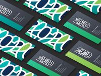2020 Business Cards identity business card design business cards business card adobe illustrator type typography branding vector logo design