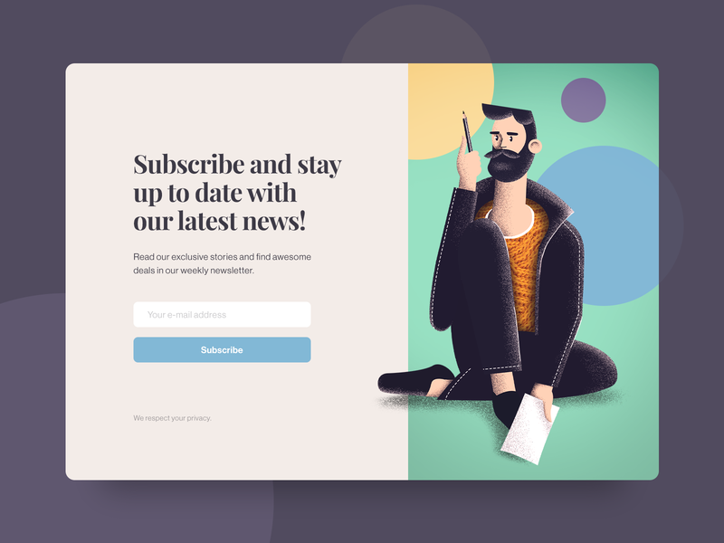 Subscription Page Illustration web design website subscribe adobe photoshop daily ui landing page web ux illustration ui design ui design