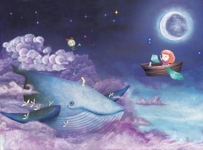 sky Whale design illustration art