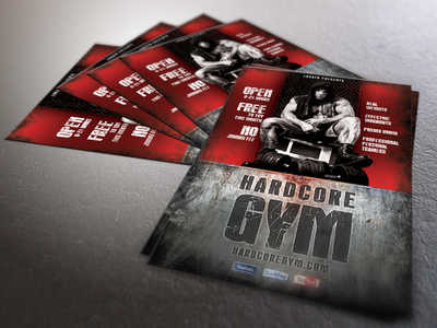 Hardcore Gym flyer template a4 body building crossfit fitness flyer grunge gym hardcore print professional psd sexy sport template training workout