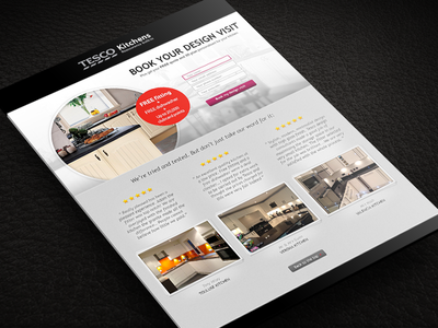 Responsive Tesco Kitchens Landing Page tesco kitchen landing page website design subscribe form review offer tesco kitchens responsive