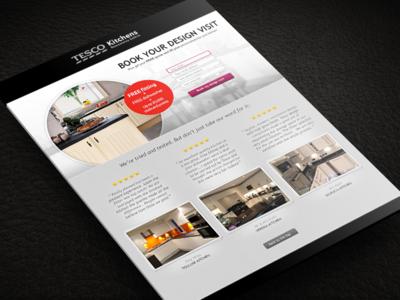 Responsive Tesco Kitchens Landing Page
