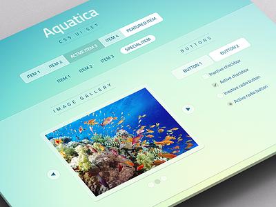 Aquatica - CSS UI Set ui css set aqua blue green white flat