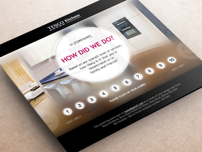 Email Design email template design rating tesco kitchens
