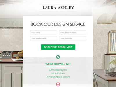 Landing Page Form clean kitchen landing page form