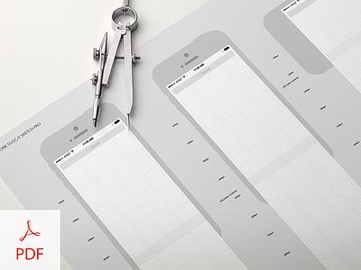 UX iPhone 5x Sketch Pad iphone5 grid wireframe sketch pad download