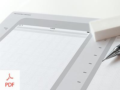 UX iPad mini / iPad 2 Sketch Pad download grid ipad tablet sketch wireframe ux