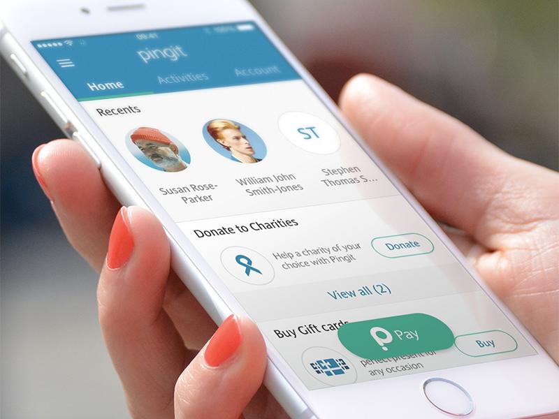 Pingit - redesigned app barclays ux mobile ios ui pingit