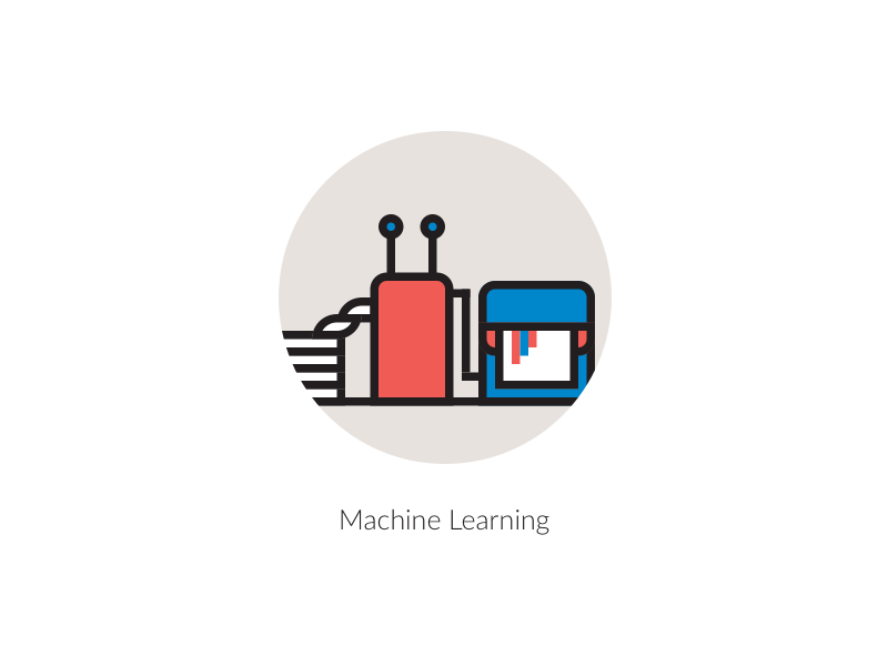 Machine Learning Icon By Paper Pixels Dribbble Dribbble