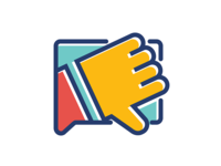 Thumbs Down Flat Icon