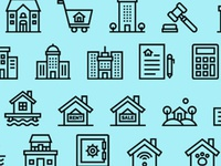 (Question) 90 Real Estate Icons