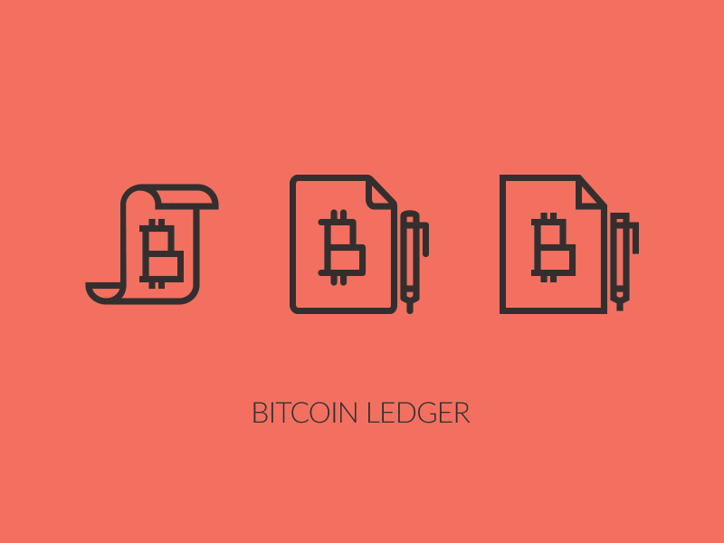 Bitcoin Ledger Icon technology fintech blockchain cryptocurrency currency accounting set icons icon ledger bitcoin