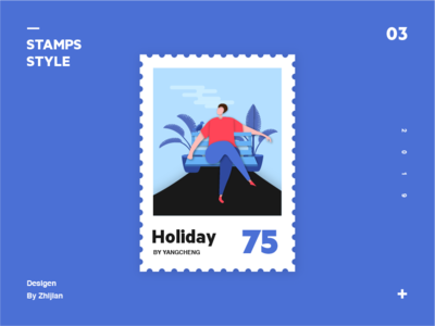 Stamps style Illustrations to practice
