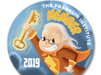 Ben Franklin Member Pin
