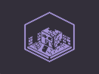 Abandoned Building | 1bit pixelart cube