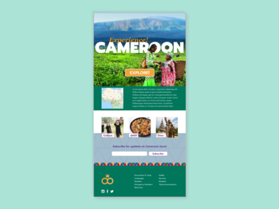 Cameroon Tourism Landing Page tourism landing page ui cameroon africa